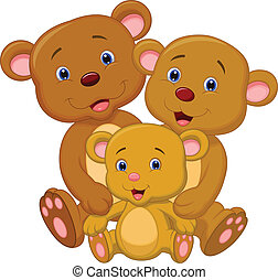 Bear family cartoon