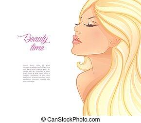 Beautiful blond woman image
