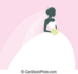 Beautiful bride - Vector illustration of Beautiful bride