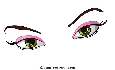 Vector illustration of beautiful eyes - Vector illustration...