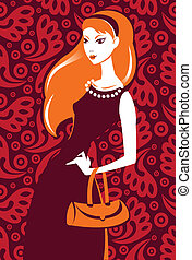 Vector illustration of beautiful fashion girl