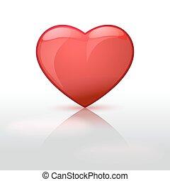 beautiful red glossy heart shape
