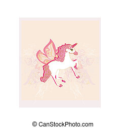 Vector Illustration of beautiful  Unicorn.