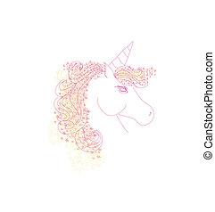 Vector Illustration of beautiful Unicorn