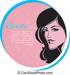 Beautiful woman - Vector illustration of Beautiful woman eps...