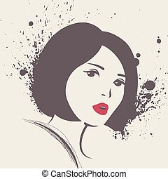 Vector illustration of beautiful woman.