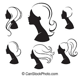 Beautiful womans - Vector illustration of Beautiful womans