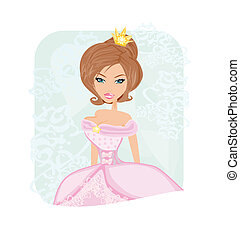 Vector illustration of beauty-bride