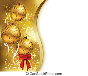 vector illustration of beauty christmas card background with gold color