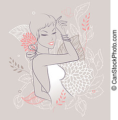 Beauty floral woman