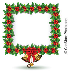 beauty Holly Christmas frame