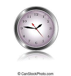 beauty metal clock