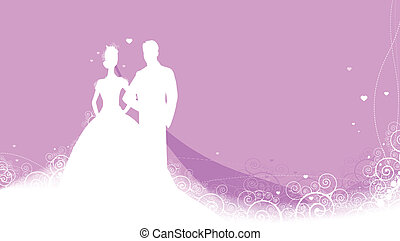 Vector illustration of beauty wedding invitation background clipart