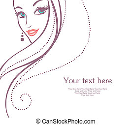 Beauty woman - Vector illustration of Beauty woman