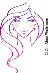 Vector illustration of Beauty woman