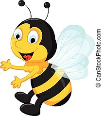 bee cartoons flying - vector illustration of bee cartoons ...