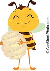 Bee holding a Beehive