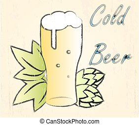 Vector illustration of beer.