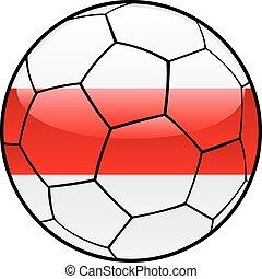 Belarus flag on soccer ball
