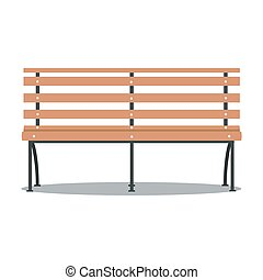 Vector illustration of bench
