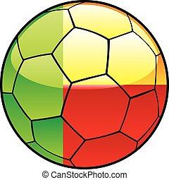 Benin flag on soccer ball