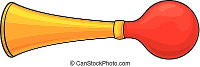 vector illustration of bicycle air horn