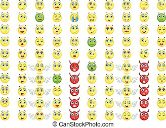 big emoticon set for you design