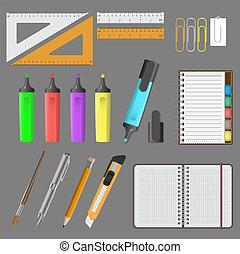 Vector illustration of big office set