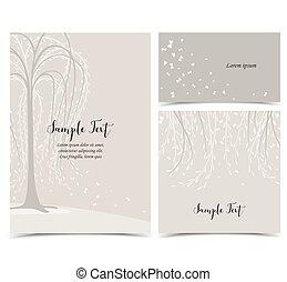 Invitation card with tree