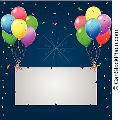 Birthday background with blank sign