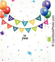 Birthday background with bunting