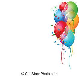 Birthday Card Background - Vector Illustration Of Birthday...