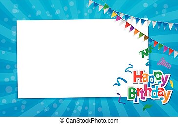 Birthday card with paper sign
