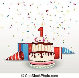 Birthday celebration background