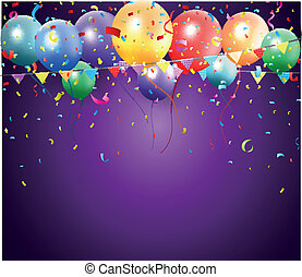 Birthday poster with balloon