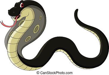 black cobra cartoon