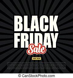 Black Friday sale banner on the black background