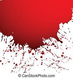 Vector illustration of black ink blot - Red drop ink ...