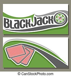 Vector illustration of Black Jack