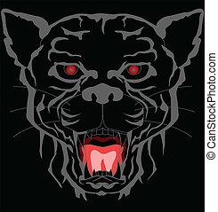 black panther tattoo tribal