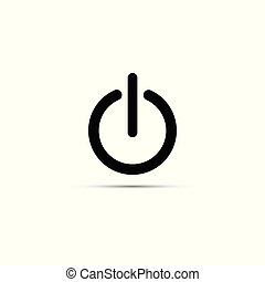 Vector illustration of black power sign icon. Flat design style.