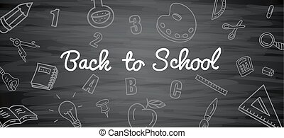 Blackboard background with drawings