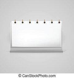 Vector illustration of blank desk calendar mock-up