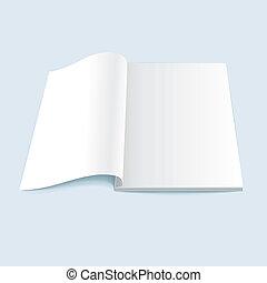 vector illustration of blank magazine
