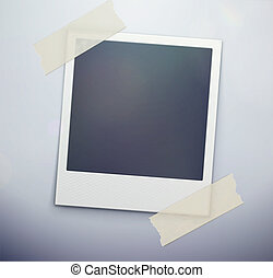 retro polaroid photo - Vector illustration of blank retro...