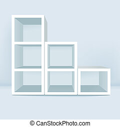 vector illustration of blank showcase