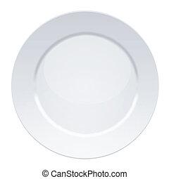 Vector illustration of blank white