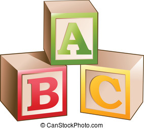 Vector illustration of blocks with