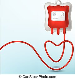 Blood Bag illustration - Vector Illustration Of Blood Bag...
