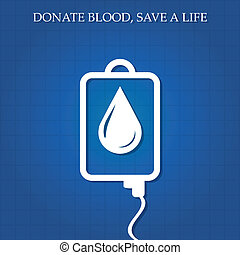 Vector illustration of blood donation concept.